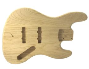 JAZZ BASS BODY SWAMP ASH UNFINISHED 5 STRING